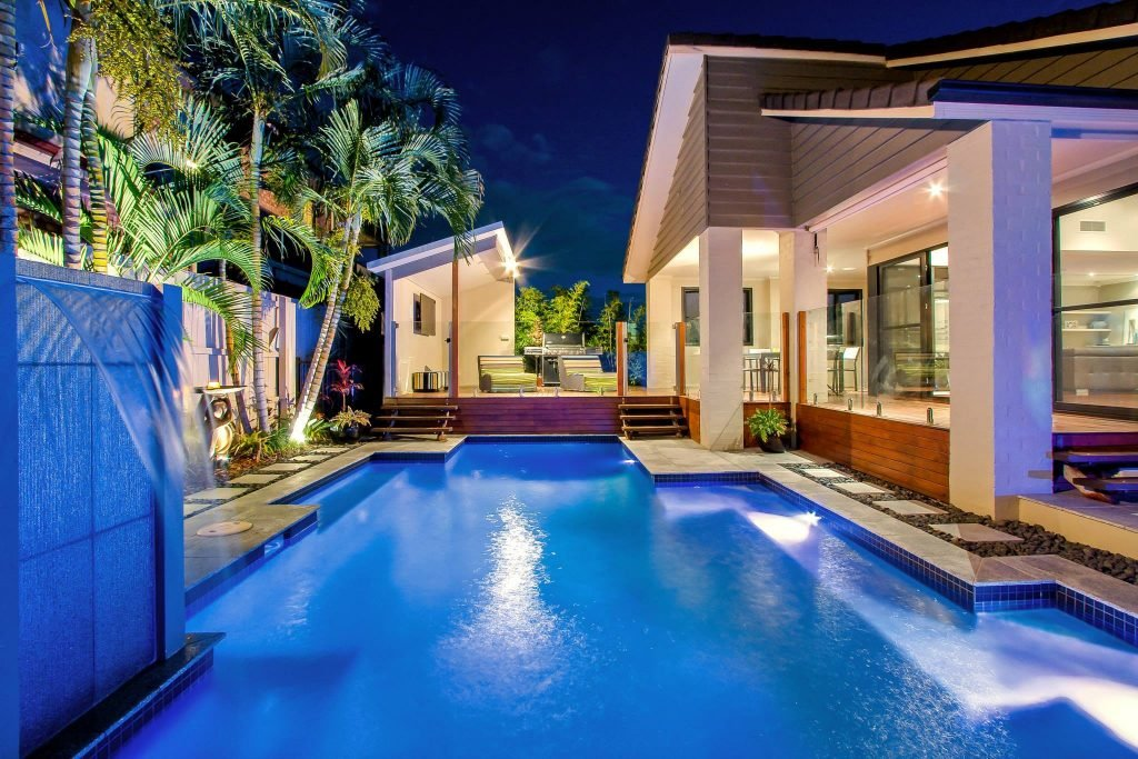 Designer swimming pool on the Gold Coast