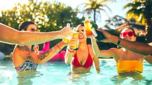 as the best pool contractors Gold Coast has on offer we can build your perfect pool party scene